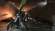Crews are attending a fire at a recycling plant in Nechells