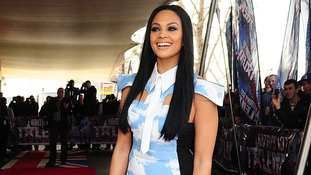 Alesha Dixon arrives for the  launch screening of Britain's Got Talent