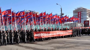 A mass rally in North Korea