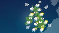 Weather: Rain becoming showery with winds easing