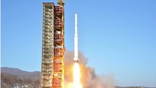 North Korean long-range rocket is launched