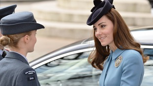 Duchess of Cambridge marks 75th anniversary of the Air Cadets