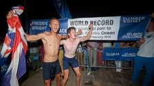 Truro man breaks Atlantic ocean world record