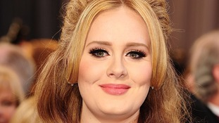 The singer Adele