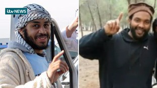 Alexe Kotey, left, and Aine Davis, right, have been identified as members of 'Jihadi John's IS cell.