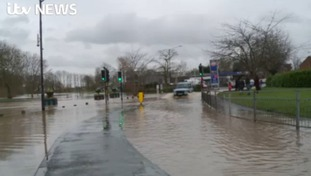 Severe flooding in Warwickshire after river banks burst