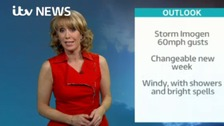 Emma Jesson in front of weather headline graphic
