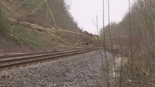 The landslide in early January was caused by heavy rain.