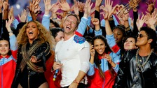 Beyonce, Bruno Mars and Coldplay perform Superbowl show