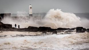 Porthcawl storm 2015