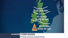 Central weather: Storm Imogen hits the Midlands