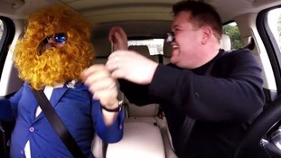 Sir Elton John and James Corden get up to mischief in Carpool Karaoke