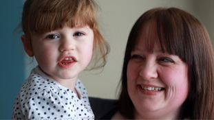 Toddler 'lucky to be alive' after acid from battery she swallowed burnt hole in her lung