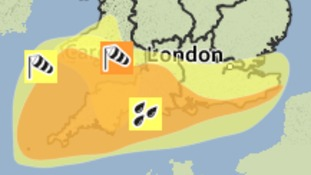 Weather warnings in place across the south west