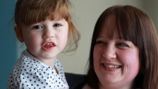 Toddler 'lucky to be alive' after swallowing battery