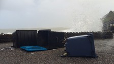 Bins washed over in Ilfracombe