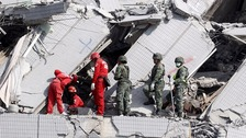 At least 38 people were killed in the earthquake
