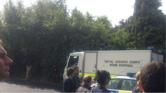 Bomb disposal experts assessed the items the police were concerned about. 