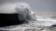 Heavy winds as storm Imogen batters the South