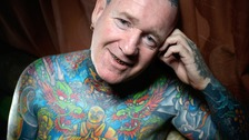 Tony Barton is tattooed from head to toe