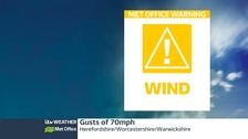 Met Office weather warning issued for strong winds