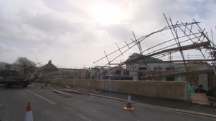 Damage caused by storm imogen