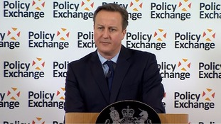 Mr Cameron spoke of 'resetting the terms of the debate' on prisons