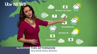 West Midlands Weather: Very windy heavy showers