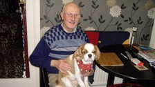 Mr Robinson with his dog, Boofle