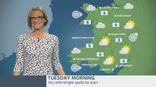 Wales Weather: Drier and brighter to start!