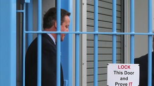 David Cameron at HMP Onley.
