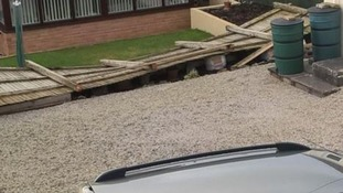 Fence falls victim in Great Torrington