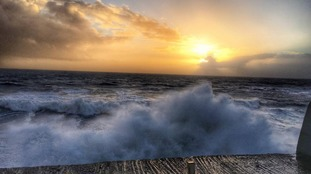 The storm showing it's beauty in Porthleven