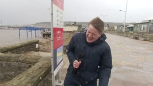 'There's always one reporter who gets the job of standing out on the seafront...'