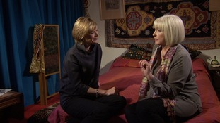Julie Etchingham with her cousin Kathy