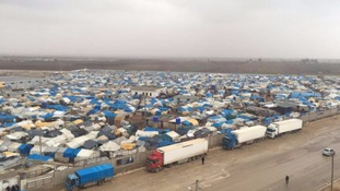 The newly built camp in Syria near the Turkish border