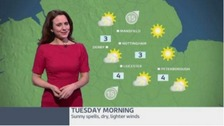 East Midlands weather: Occasional rain