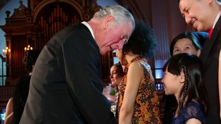 Welsh schoolgirl treats Prince Charles to piano performance at Buckingham Palace
