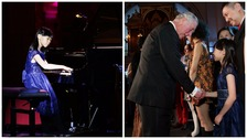 Welsh schoolgirl treats Prince Charles to piano performance