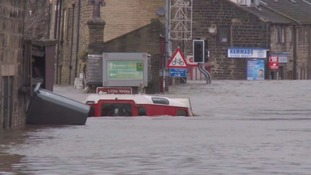 Flooding devastation in Mytholmroyd