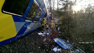 'Several dead and 150 injured' in German train crash