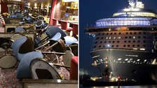 Passengers terror as cruise ship sails into 'hurricane'