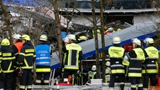 Nine killed and 150 injured in German train crash