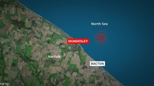 The latest whale is stranded off the coast at Mundesley.