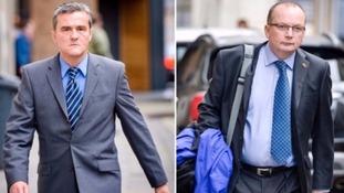 Officers jailed for misconduct: Andrew Passmore, left, and Kevin Duffy, right.