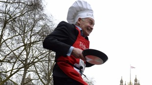 ITV News' Alastair Stewart loses out to MPs in Pancake Day race