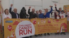 Alan Shearer and the characters of Star Wars launching the Children's Cancer Run