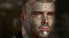 "Matthew Whelan, Aka 'HRM King of Inkland"" claims to be the most tattooed man in Britain."