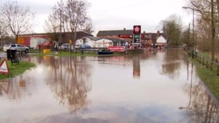 High water levels seen in Worcestershire last month.