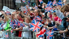 Crowds at Olympic parade